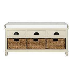 £149 106cm x 50h x 39d Devon Cream Storage Bench | Dunelm