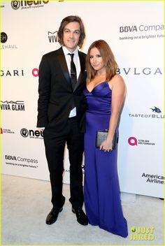 Ashley Tisdale and her husband Christopher French at the Elton John AIDS Foundation Oscars Party 2017