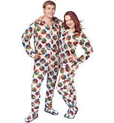 Rubik's cube adult footed pajamas