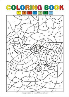 Free Printable Coloring Pages - Color by numbers Alphabet Coloring Pages, Free Printable Coloring Pages, Coloring For Kids, Coloring Pages For Kids, Coloring Books, Color By Number Printable, Printable Numbers, Alphabet Letter Crafts, Letter Tracing