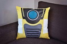 Borderlands 2 Claptrap Pillow https://www.etsy.com/listing/179521606/borderlands-claptrap-pillow