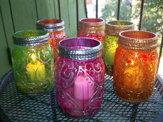 Unique Wedding and Union Patio or Special Occasion candle holders and Favors perfect for outdoor weddings Beautiful and Windproof. $12.00, via Etsy.