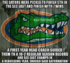 Love my Gators!                                                                                                                                                      More