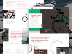 BBUC Cycling | Homepage Concept by Joel Maynard