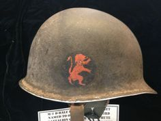 M-2 helmet named to Orville Martin G/505 PIR 82nd Airborne