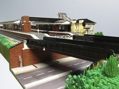 Lego Fareham Station View from Southwest  by Michael Gale