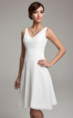 Bridesmaid Dress, Bridesmaid Dresses, 2013 Absorbing aBest Selling V-neck White Bridesmaid Dress/Cocktail Dress/Homecoming Dress/Holiday Dress