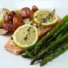One-Pan Lemon Herb Salmon And Veggies