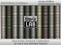 Elsa Knit Scandinavian Seamless Fabric Collection Materials Edition Specular and Normals Maps Artist Resources by www.fabriclab.org
