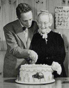 Happy Birthday, Norman Rockwell! America's favorite illustrator was born 120 years ago today. Why not celebrate with a visit to Norman Rockwell Museum to view the largest collection of original Rockwell artwork!  Photo of Norman Rockwell and Grandma Moses, circa 1949. Photographer unknown. Norman Rockwell Museum Digital Collections. ©Norman Rockwell Family Agency. All rights reserved.
