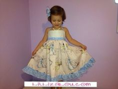 Lil' Liza Lou's Princess Dress. Handmade. Loveliness.