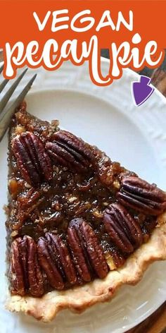 Healthy Vegan Pecan Pie also happens to be the Best Maple Pecan Pie as it is made with no refined sugars, no dairy, no eggs and last but not least no corn syrup. Easy to make one pan filling for a great holiday dessert. Homemade pie crust included too.