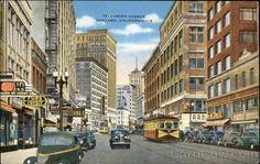 Telegraph Avenue downtown Oakland vintage postcard  cardcow.com