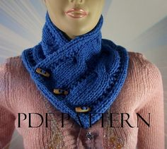 KNITTING PATTERN COWL  Linda Cowl with wooden by LiliaCraftParty  #knittinghour #pattern
