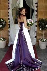 Purple Wedding Dress If they had this when I got married, this would have been my dress!