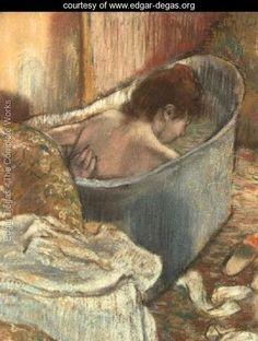 """""""The Bath"""", Edgar Degas. www.edgar-degas.org"""
