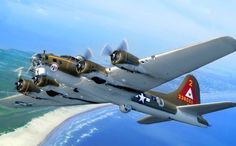 The Boeing Flying Fortress is a four-engine heavy bomber aircraft primarily employed by the United States Army Air Forces (USAAF) during World War II. Free Desktop Wallpaper, Wallpaper Downloads, Wallpapers Android, Wallpaper Backgrounds, Image Avion, Airplane Wallpaper, Disney Planes, Desktop Pictures, Military Aircraft