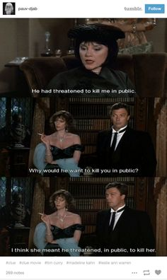 """Like, you can't stress enough how good this dialogue is. 