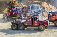 Last competition of the Czech truck trial championship.