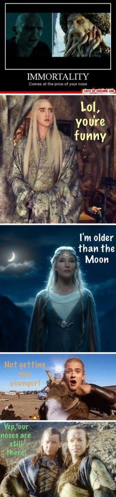 / Lord of the Rings / The Hobbit / Elves / Tolkien / Humor / Galadriel / Thranduil / Legolas / Gil-galad / Elrond