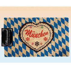 Deurmatten Munchen 75 x 45 cm  Deurmat Oktoberfest Munchen. Leuke Oktoberfest deurmat met de tekst: Munchen. Formaat: ongeveer 75 x 45 cm.  EUR 14.95  Meer informatie
