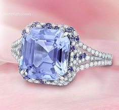 Martin Katz Sapphire and Diamond Ring.  #luxury #MartinKatz #MartinKatzJewels