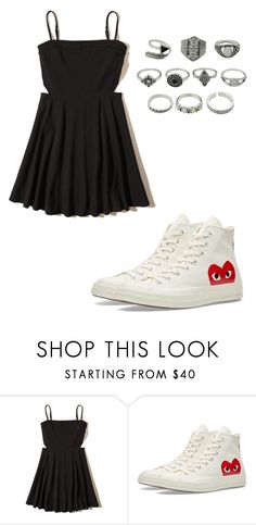 """""""No name#16"""" by kyley-mays on Polyvore featuring Hollister Co. and Converse"""