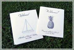 Welcome Booklets for Wedding Welcome Bags by katleminvitations