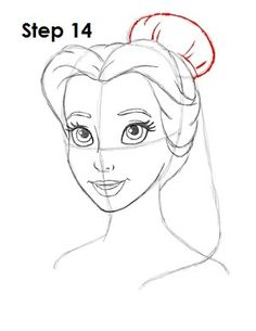 Kunst Zeichnungen - How to Draw Belle from Disney& Beauty and the Beast Easy Disney Drawings, Disney Sketches, Cartoon Drawings, Easy Drawings, Drawing Disney, Disney Character Sketches, Belle Disney, Art Disney, Disney Princess Characters