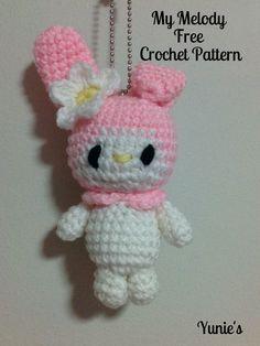 Free crochet pattern : My Melody amigurumi  #amigurumi #crochet…