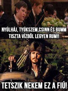 funny-Harry-Potter-Jack-Sparrow-water-rum Of course you do captain Jack. Also you need to hide the rum from will too. He blew it up Humour Harry Potter, Harry Potter Fandom, Harry Potter Funny Quotes, Harry Potter Things, Harry Potter Crossover, Harry Potter Disney, Harry Potter Spells, Harry Potter Characters, Harry Potter World