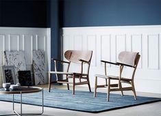 Chairs by Carl Hansen & Son Danish Furniture, Scandinavian Furniture, New Furniture, Furniture Design, Stockholm Design, Design Salon, Lounge Chair Design, Mid Century Chair, Cool Chairs