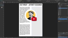 Text wrapping – Affinity Designer in a Minute | Text Umlauf - Affinity Designer in einer Minute #ADIAM