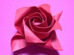 Origami Rose of Kade Chan Instruction 摺紙玫瑰花教學 ( Kade Chan ) - YouTube