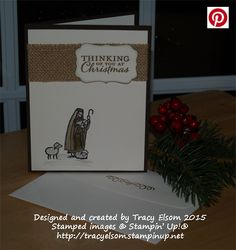 Christmas card created using the All Ye Faithful Stamp Set from Stampin' Up! http://tracyelsom.stampinup.net