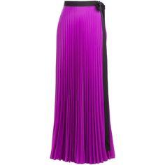 Issa Pleated Maxi Skirt (1.840 VEF) ❤ liked on Polyvore