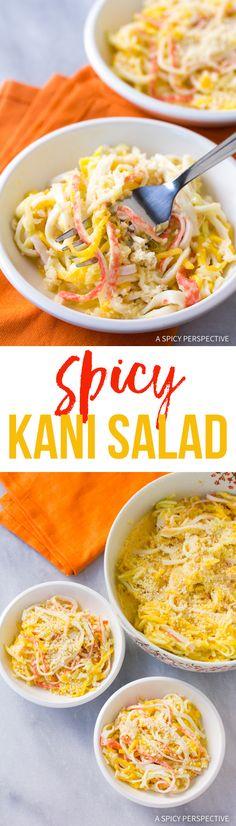 Sushi Bar Spicy Kani Salad Recipe #healthy via @spicyperspectiv