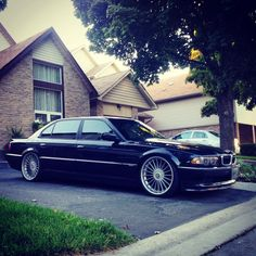 BMW E38 Black with Alpina 21""