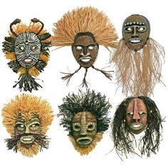 African Masks - Project #7 - United Art and Education by corpsegirl