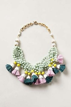 Anthropologie - Tasseled Strands Necklace