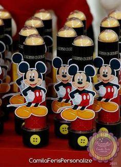 Resultado de imagem para lembrancinhas personalizadas mickey e minnie tubetes
