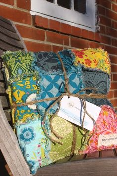 Patchwork.  I am giving ragged cushions for Christmas this year - big or small squares they turned out so darn cute!
