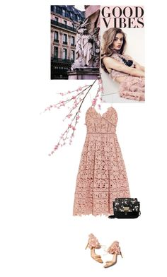 """""""Floral"""" by alicelove17 ❤ liked on Polyvore featuring Pier 1 Imports, self-portrait, Rupert Sanderson and Axixi"""