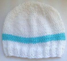 My Little Baby Newborn Hat Knitting pattern by Bizzy Crochet Baby Boy Knitting Patterns Free, Baby Hat Patterns, Baby Hats Knitting, Knit Patterns, Hand Knitting, Knitted Hats, Hat Crochet, Newborn Knit Hat, Newborn Hats