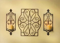 "Sconces are 23.75"" high. Center piece is 24 x 20. Set goes for $37. Where could this go?"