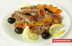 Entrecotes with Dried Apricot