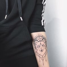 Wolf Tattoo Designs and Ideas on Forearm