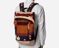Ethnical jaquard backpack