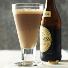Just in time for St. Patrick's Day, this Black Patent cocktail starts with a stout base.