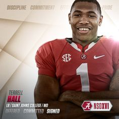 Alabama 2016 commit LB Terrell Hall